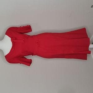 Miss Lulo Retro Inspired Red Dress